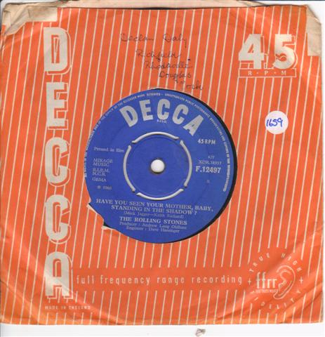 ROLLING STONES - HAVE YOU MOTHER - DECCA 12497 { 1659